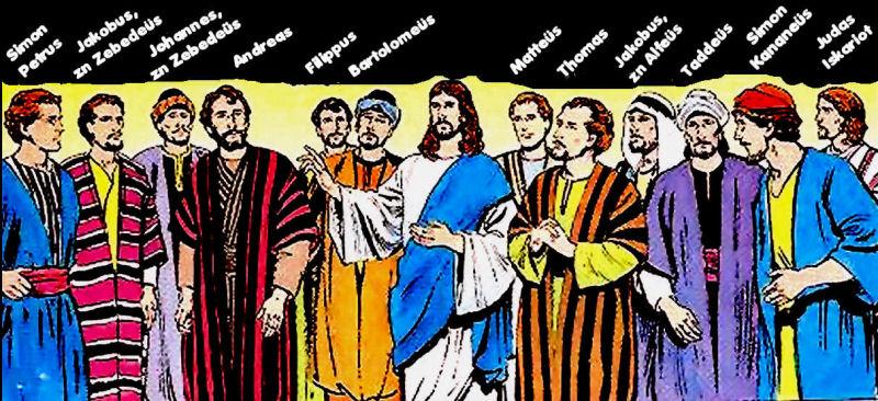 12 discipelen of apostelen